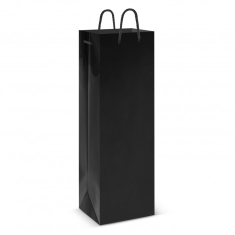 black printed Laminated Wine Bag in Perth