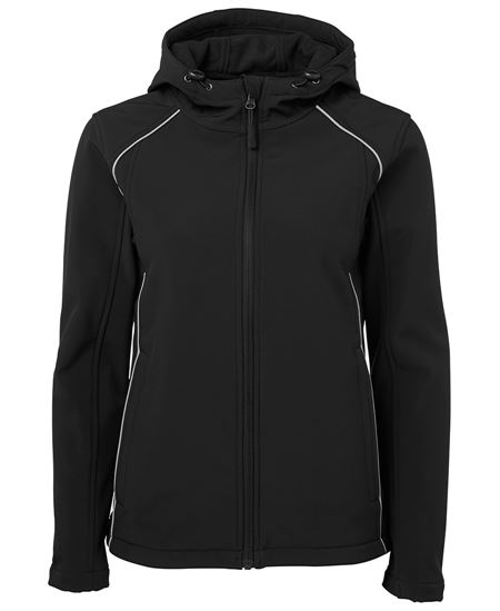 Custom Ladies Hooded Soft Shell Jacket in Perth