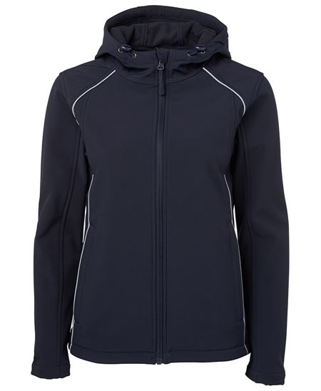 Printed Ladies Hooded Soft Shell Jacket in Australia