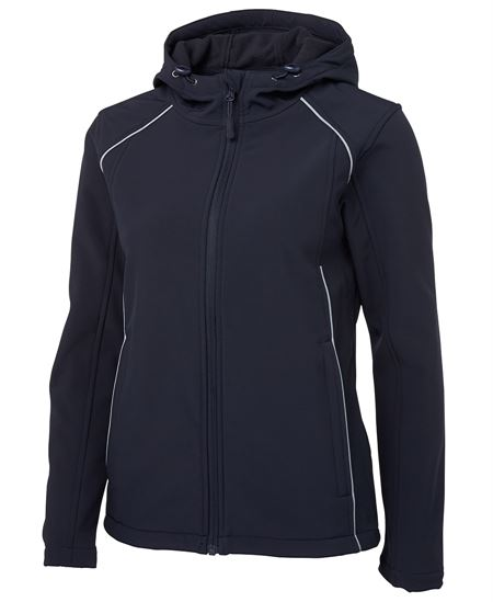 Promotional Ladies Hooded Soft Shell Jacket in Perth