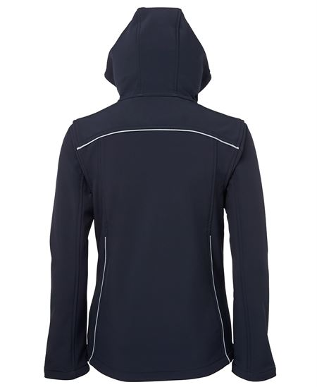 Personalised Ladies Hooded Soft Shell Jacket in Australia