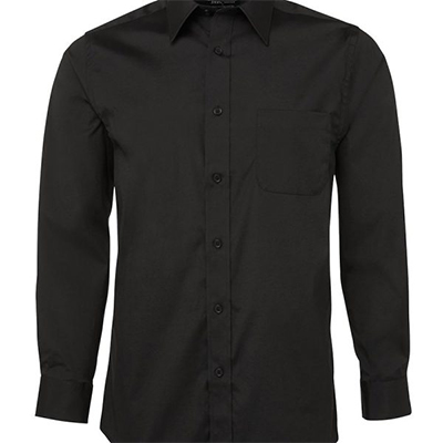Custom Black Urban L/S Poplin Shirts in Australia