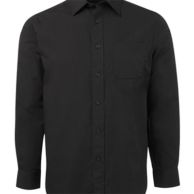 Custom Black Contrast Placket Shirts in Australia