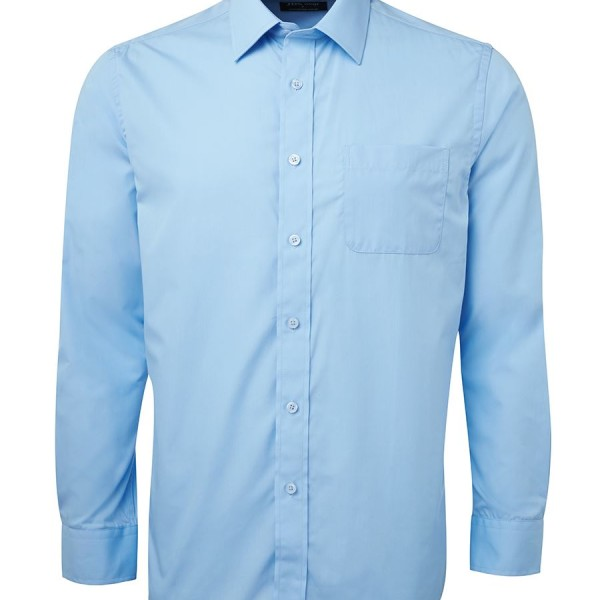 Printed Blue Contrast Placket Shirts in Perth