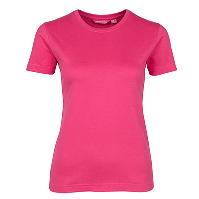 Custom Pink Ladies Fitted Tee Shirts in Perth
