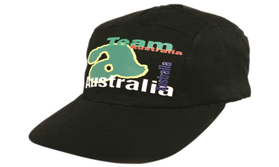 Promotional Corparate Custom Printed Bags Headwears Cotton and Other Fabrics 5 Panel Square Front - 3058 Perth Australia