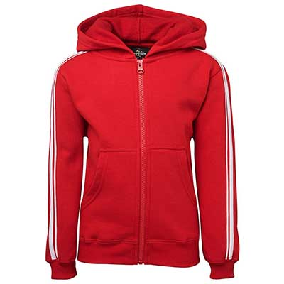 Printed Red PDM P/C Dual Stripe f/zip Hoodie in Australia