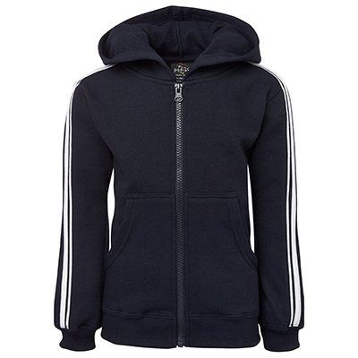 Promotional Black PDM P/C Dual Stripe f/zip Hoodie in Perth