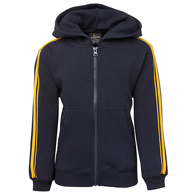 Personalised PDM P/C Dual Stripe f/zip Hoodie in Australia