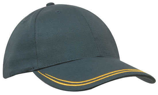Bags Headwears Brushed Cotton Caps Brushed Heavy Sports Twill with Double Stripe Perth Australia