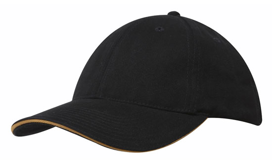 Bags Headwears Brushed Cotton Caps Brushed Heavy Cotton with Sandwich Trim - 4210 Perth Australia