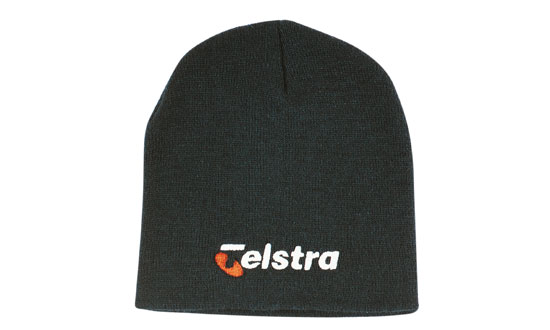 Promotional Corparate Custom Printed Bags Headwears BEANIES Rolled Down Acrylic Beanie - 4244 Perth Australia