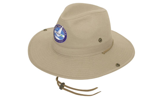 Promotional Corparate Custom Printed Bags Headwears Customized Hats Safari Cotton Twill Hat - 4275 Perth Australia