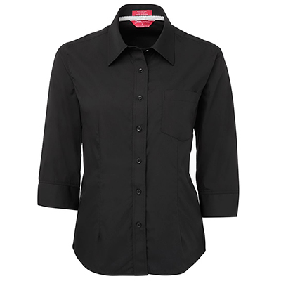Ladies Contrast Placket 3/4 Sleeve Shirts in Australia