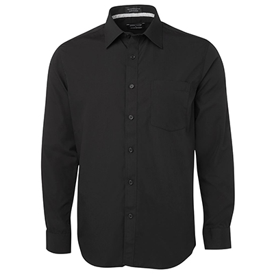 Promotional Corparate Custom Printed Apparels Hospitality SHIRTS Adults Contrast Placket Shirt - 4PCSL L/S Perth Australia