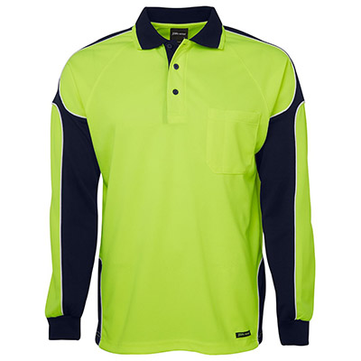 Apparels HI VIS Tradewear POLOS Adults HI VIS 4602.1 L/S ARM PANEL POLO - 6AP4L Perth Australia