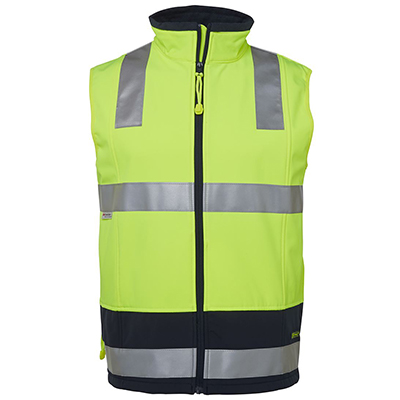 Apparels HI VIS Tradewear JACKETS-VESTS ADULTS 6D4LK HV 4602.1 (D+N) LAYER/SOFTSHELL VEST Perth Australia