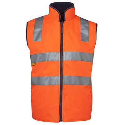 Apparels HI VIS Tradewear JACKETS-VESTS ADULTS HI VIS (D+N) REVERSIBLE VEST - 6D4RV Perth Australia
