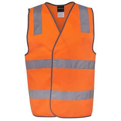 Apparels HI VIS Tradewear JACKETS-VESTS ADULTS HV (D+N) ZIP SAFETY VEST - 6DNSZ Perth Australia