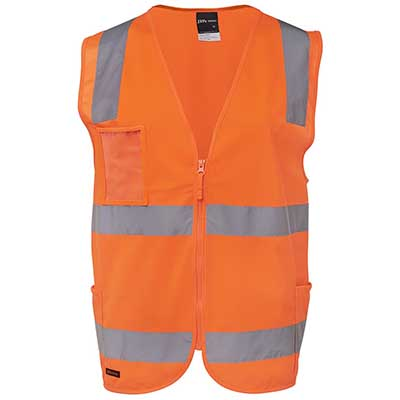 Apparels HI VIS Tradewear JACKETS-VESTS ADULTS HI VIS (D+N) SAFETY VEST - 6DNSV Perth Australia