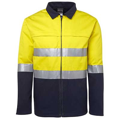 Apparels HI VIS Tradewear JACKETS-VESTS ADULTS Hi Vis (D+N) Cotton Jacket - 6HD4J Perth Australia