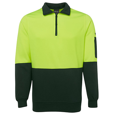 HI VIS ½ ZIP FLEECY - 6HVFH