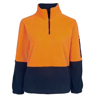 Promotional Corparate Custom Printed Apparels HI VIS Tradewear POLARS HV LADIES 1/2 ZIP POLAR - 6HVLP Perth Australia