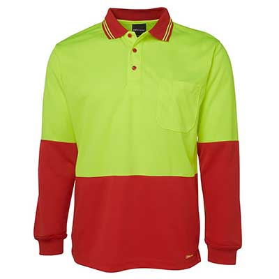 Apparels HI VIS Tradewear POLOS Adults HI VIS L/S TRADITIONAL POLO - 6HVPL Perth Australia