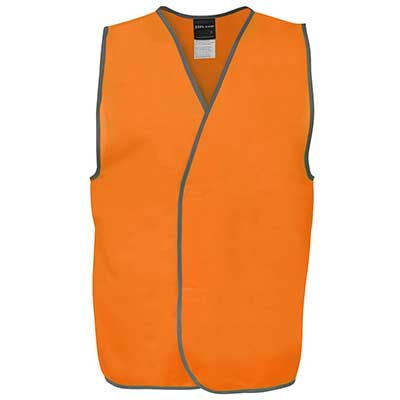 Custom Apparels Orange HV DROP TAIL H PATTERN (D+N) VEST Perth Australia
