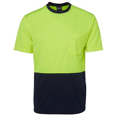 Promotional Corparate Custom Printed Apparels HI VIS Tradewear Tees HI VIS TRADITIONAL T-SHIRT - 6HVT Perth Australia