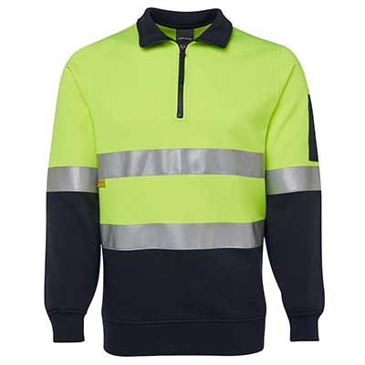 Apparels HI VIS Tradewear FLEECYS HI VIS (D+N) ½ ZIP FLEECY SWEAT - 6HZFS Perth Australia
