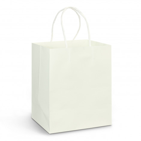 Printed White Paper Bags with Handles in Australia