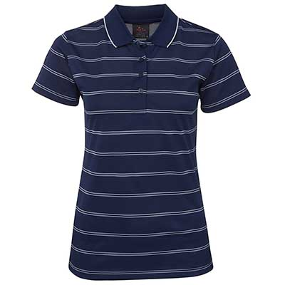 Promotional Corparate Custom Printed Apparels Polos Ladies PODIUM LADIES ALT STRIPE POLO - 7ALT1 Perth Australia