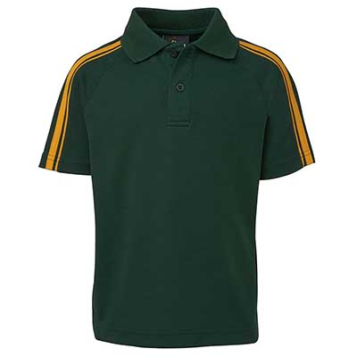 Adults Apparels Polos Kids Shirts PODIUM DUAL STRIPE C/BACK POLO - 7DSP Perth Australia