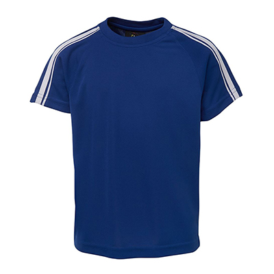 Apparels Tees & Singlets Tees ADULTS Sportswear Soccer Pre-made Uniforms PODIUM DUAL STRIPE CREW NECK TEE - 7DST Perth Australia