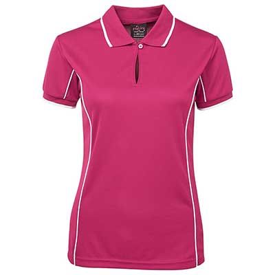 Promotional Corparate Custom Printed Apparels Polos Ladies PODIUM LADIES PIPING POLO - 7LPI Perth Australia
