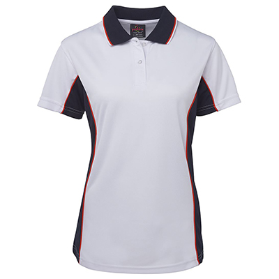 Promotional Corparate Custom Printed Apparels Polos Ladies PODIUM LADIES CONTRAST POLY POLO - 7LPP Perth Australia