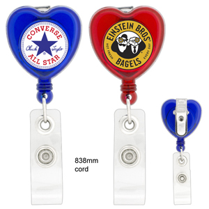 Heart-Shaped Retractable Badge Holder K-305