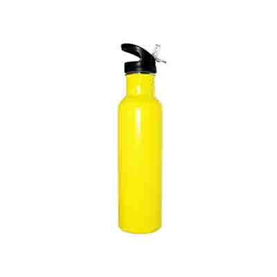 Printed Yellow Stainless Steel Water Bottle 800ml in Australia