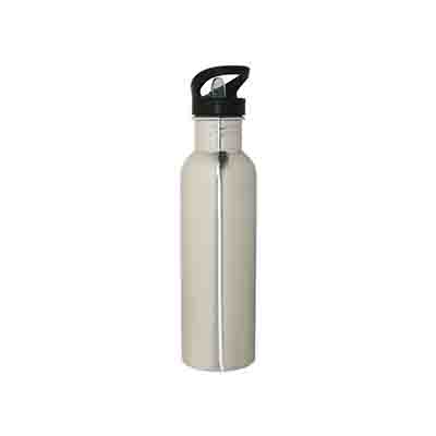 Custom Made Silver Stainless Steel Water Bottle 800ml in Perth