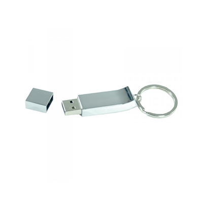 Custom Printed Chrome Keyring Flash Drive Perth