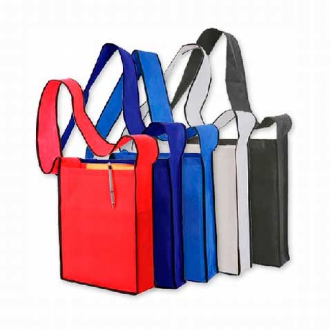 Printed Non-Woven Sling Bags Perth - Mad Dog