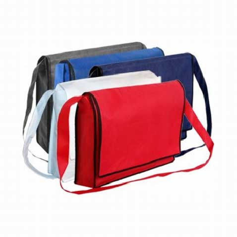 Printed Non-Woven Flap Satchel Bags Perth - Mad Dog