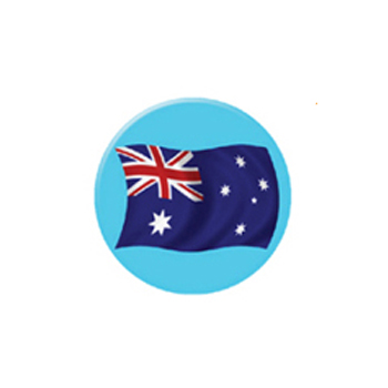 Bulk Flag Badges Perth - Custom Printed Badges Perth