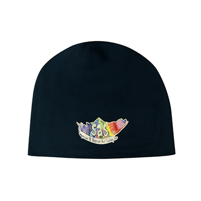 Printed Roll Down Two Tone Acrylic Beanie & Toque in Perth
