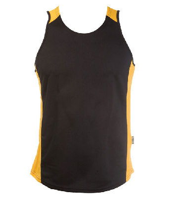 Buy Black Gold OC Mens Basketball Singlets Online in Perth