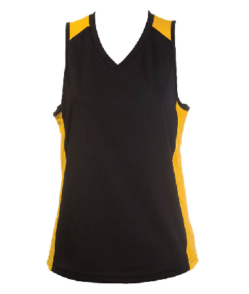 Buy Online Balck Gold OC Ladies Basketball Jersey in Australia