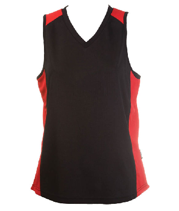 Personalised Black Red OC Ladies Basketball Jersey in Australia