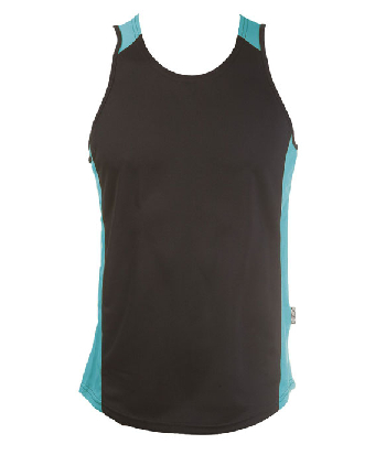 Get Black Teal OC Mens Basketball Singlets Online in Perth