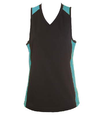 Custom Made Black Blue OC Ladies Basketball Jersey in Perth